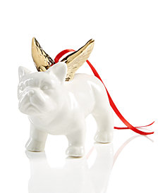 Holiday Lane White Winged Bulldog Ornament, Created for Macy's