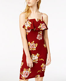 Almost Famous Juniors' Floral-Print Flounce Dress