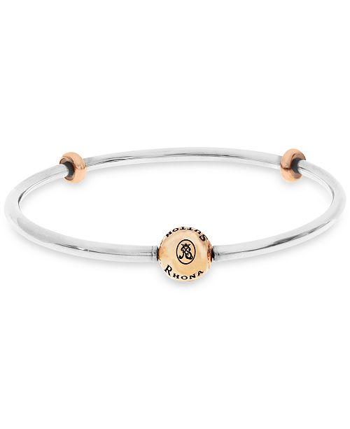 Bangle Bracelet With Stopper Beads