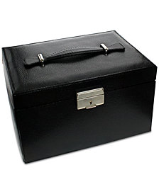 Rhona Sutton Black Large 3-Drawer Jewelry Case
