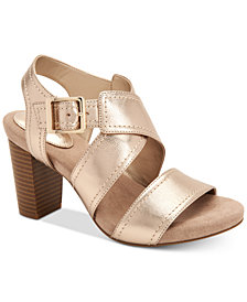 Giani Bernini Janett Memory-Foam Block-Heel Dress Sandals, Created for Macy's