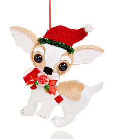 Holiday Lane Fabric Dachshund Ornament, Created for Macy's