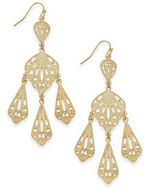 Thalia Sodi Gold-Tone Filigree Chandelier Earrings, Created for Macy's