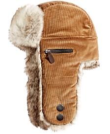 f9a62f87a53 Woolrich Men s Faux-Leather   Canvas Trooper Hat