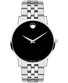 Men's Swiss Museum Classic Stainless Steel Bracelet Watch 40mm