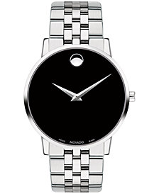 Movado Men's Swiss Museum Classic Stainless Steel Bracelet Watch 40mm