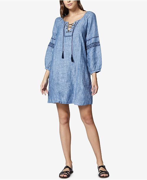 Embroidered Sanctuary Raven Peasant Mirabelle Wash Dress 55wZPq