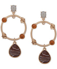 lonna & lilly Gold-Tone Stone & Circle Drop Earrings