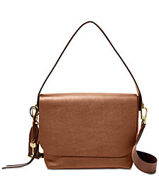 Fossil Maya Flap Pebble Leather Crossbody