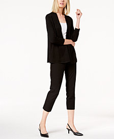 Alfani Menswear-Inset Cardigan & Cropped Slim Pants, Created for Macy's