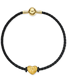 Chow Tai Fook Textured Heart Braided Bracelet in 24k Gold