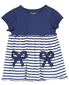 First Impressions Baby Girls Striped Bows Cotton Tunic, Created for Macy's