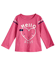 First Impressions Toddler Girls Hello Baby-Print T-Shirt, Created for Macy's