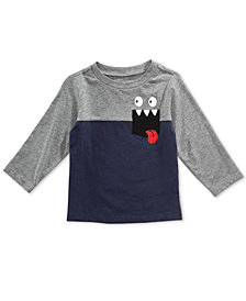 First Impressions Baby Boys Monster Pocket T-Shirt, Created for Macy's