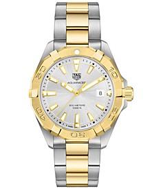 Men's Swiss Aquaracer Two-Tone Steel & 18K Gold Bracelet Watch 41mm