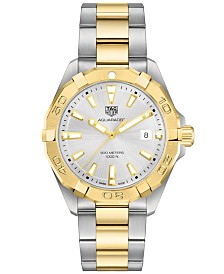 TAG Heuer Men's Swiss Aquaracer Two-Tone Steel & 18K Gold Bracelet Watch 41mm