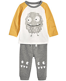 First Impressions Baby Boys Monster T-Shirt & Jogger Pants, Created for Macy's
