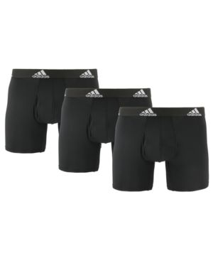 Adidas Originals Adidas Men S 3 Pk Climalite Boxer Briefs In Black