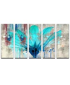 Ready2HangArt 'Painted Petals LII' Canvas Wall Decor Set