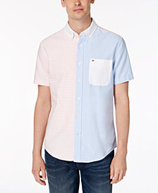Tommy Hilfiger Men's Colorblocked Gingham Classic Fit Shirt, Created for Macy's