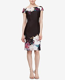 Floral Off-The-Shoulder Sheath Dress