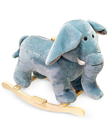 Trademark Global Happy Trails Elephant Plush Rocking Animal