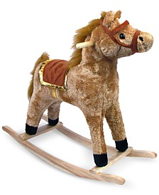 "Trademark Global Happy Trails Plush Rocking Horse, 26"" x 11"" x 28.5"""