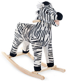 Trademark Global Happy Trails Zebra Plush Rocking Animal
