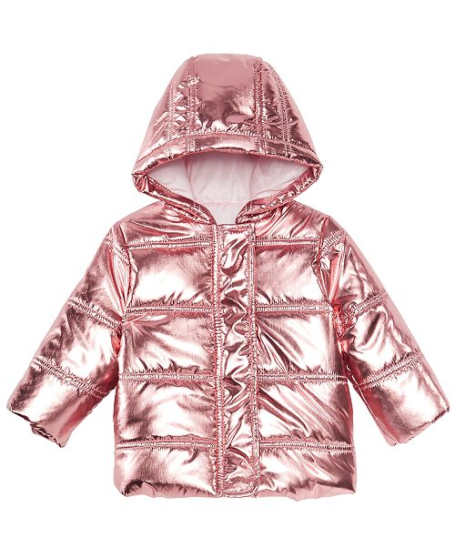 020cc89b415d First Impressions Baby Girls Metallic Puffer Jacket