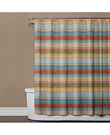 "Saturday Knight Kochi Stripe 72"" x 72"" Shower Curtain"