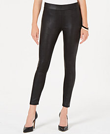 JM Collection Snake-Embossed Scuba Leggings, Created for Macy's