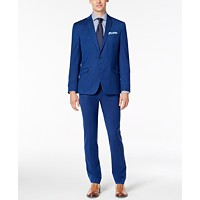 Kenneth Cole Reaction Men's Skinny-Fit Stretch Solid Shine Suit