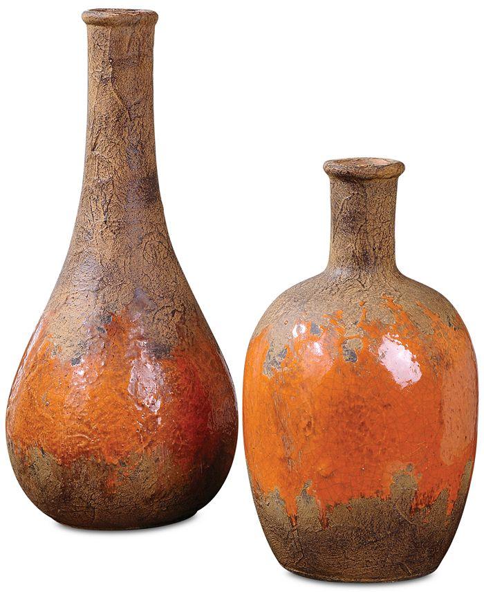 Uttermost - Kadam Ceramic Vases, Set of 2
