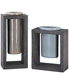 Uttermost Pio Industrial Ceramic Vases, Set of 2