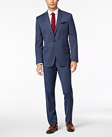 Men's Big & Tall Slim-Fit Ready Flex Stretch Denim Blue Solid Suit
