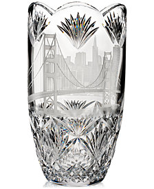 Waterford Master Craft Collection America The Beautiful San Francisco Oval Vase