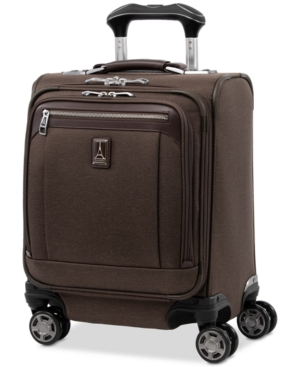 """Travelpro Platinum Elite 16"""" Softside Carry-on Spinner In Rich Espresso"""