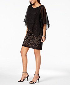Lace & Chiffon Popover Dress