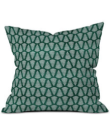 Deny Designs Little Arrow Design Co Fern On Forest Throw Pillow