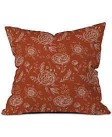 Deny Designs Pimlada Phuapradit Sienna Floral Linework Throw Pillow
