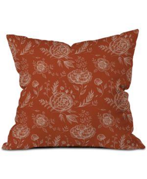 Deny Designs Pimlada Phuapradit Sienna Floral Linework Throw Pillow 6594190