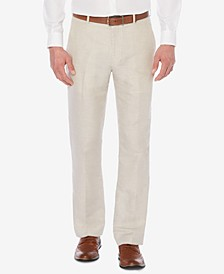 Men's Classic-Fit Linen Blend Herringbone Pants