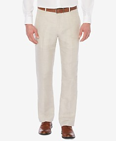 0ff5931b4ed4 Perry Ellis Men's Classic-Fit Linen Blend Herringbone Pants