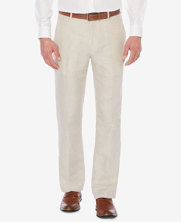 Perry Ellis Men's Classic-Fit Linen Blend Herringbone Pants