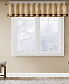 "Madison Park Dune Microsuede Stripe 50"" x 18"" Window Valance"