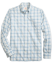 Brooks Brothers Men's Summer Twill Slim-Fit Plaid Cotton Shirt