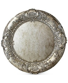 Jay Import Silver Embossed Melamine Charger Plate