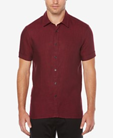 Perry Ellis Men's Linen Textured Shirt