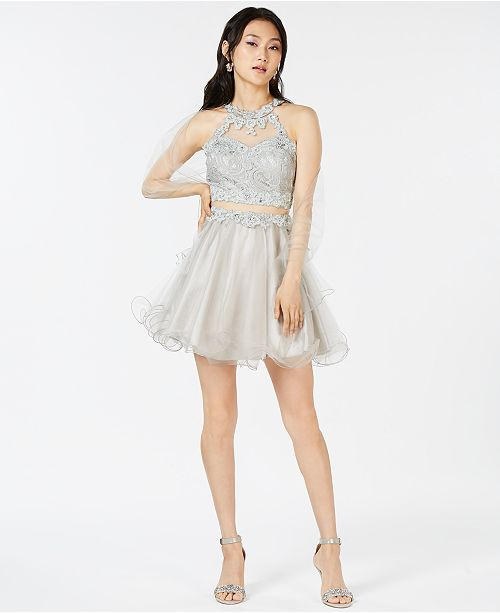 Dress Lace Dancing Silver Embellished Queen Juniors' YInqx8v