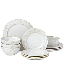 Lenox-Wainwright Boho Beach 12-Pc. Dinnerware Set, Service for 4, Created for Macy's